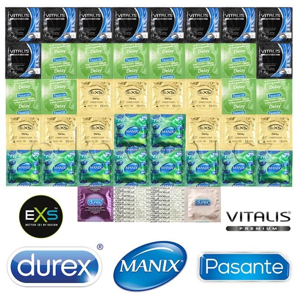 Balíček Delay Mix - 44 kondómov pre dlhé milovanie