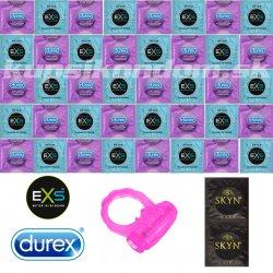 Durex Air Thin balíček - 42 ultra tenkých kondómov + vibračný krúžok