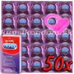 Durex Feel Intimate 50ks + vibračný krúžok Pasante