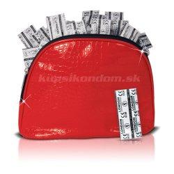 Durex London Wet 100ks + červená kozmetická taška ako darček!