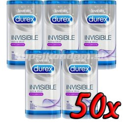 Durex Invisible Extra Lubricated 50ks