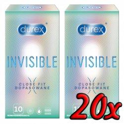 Durex Invisible Close Fit 20ks