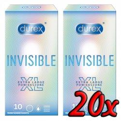 Durex Invisible XL 20ks