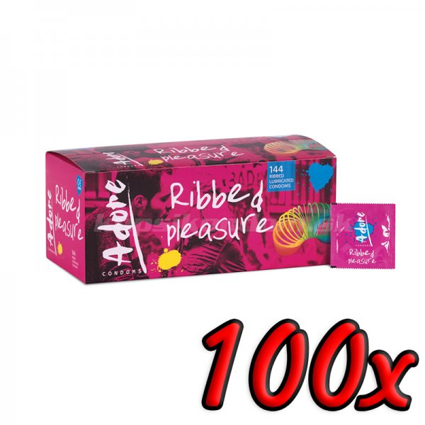 Adore Ribbed Pleasure 100ks