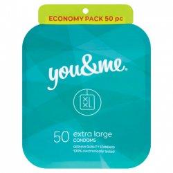 You&me Extra Large Condoms 50ks