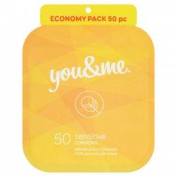 You&me Sensitive Condoms 50ks