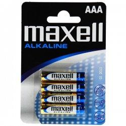 MAXELL Alkalické batérie AAA 4ks