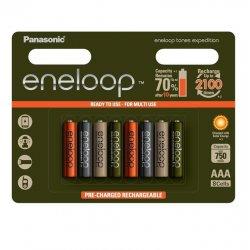Panasonic Eneloop Expedition Nabíjateľné batérie AAA 8ks
