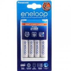 Panasonic Eneloop Nabíjačka + Nabíjateľné batérie AA 4ks