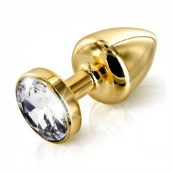 Diogol Anni Round Gold Plated 25mm - Análny šperk Zlatý