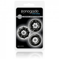 NS Novelties Renegade Dyno Rings Black