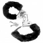 Fetish Fantasy Beginner's Furry Cuffs - Plyšové kovové putá Čierna